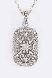 Charming Cubic Zirconia Pendant Necklace - Superior Boutique