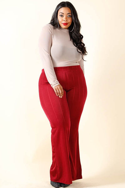 Curvy Bell Bottom Pants - Superior Boutique