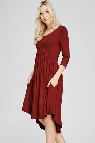 Pleated Swing Dress - Superior Boutique