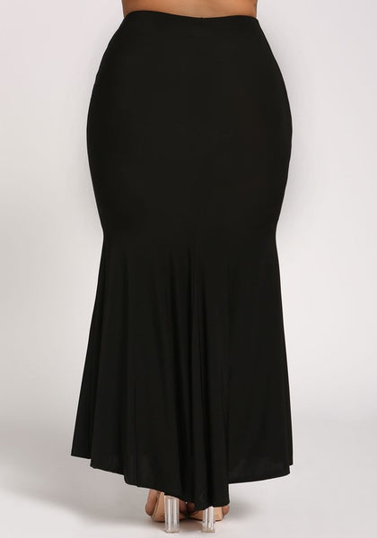 Curvy High Rise Maxi Skirt - Superior Boutique