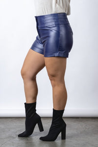 Sinister Faux Leather Shorts (CURVY) - Superior Boutique