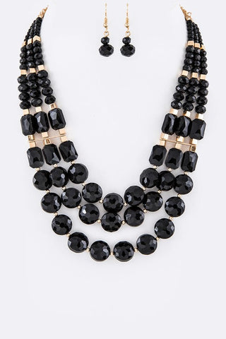 Beautiful Crystal Necklace Set - Superior Boutique