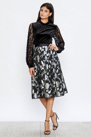 Pleated A-Line Skirt - Superior Boutique