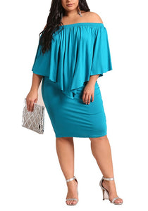Curvy Layered Pointed Bodycon Dress - Superior Boutique