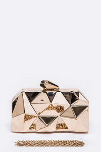 Iconic Box Clutch - Gold