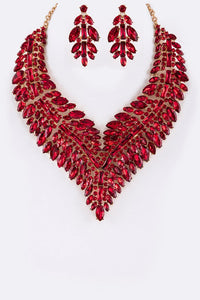 Elegant Crystal Statement Necklace Set - Superior Boutique