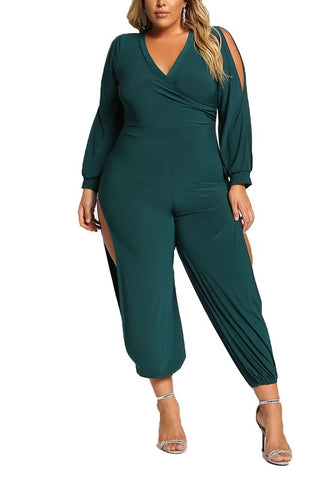 Curvy Multi Side Cut Out Genie Jumpsuit