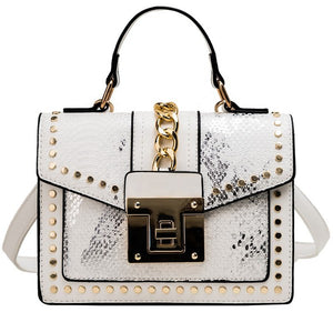 Owning It Handbag (Snake) - Beige
