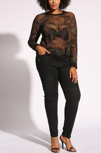 Curvy Embossed High Rise Skinny Jeans - Superior Boutique