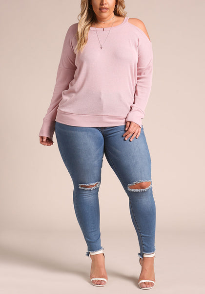 Curvy Thermal Knit Chic Top - Superior Boutique