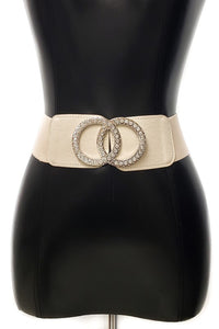 Running In Circles Elastic Belt - Ivory