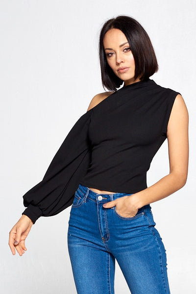 So Sophisticated Top - Black