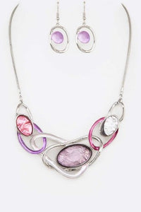 Perfect Links Necklace Set - Purple