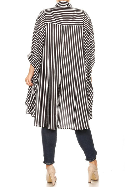 Stripe Me Down Hi-Lo Top - Superior Boutique