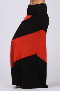 Curvy Colorblock Knit Maxi Skirt