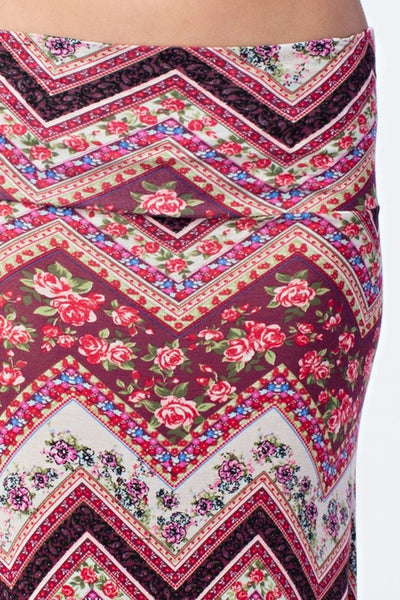 Final Sale Floral Print Maxi Skirt - Superior Boutique