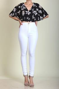 High Waist Skinny Leg Pants - Superior Boutique