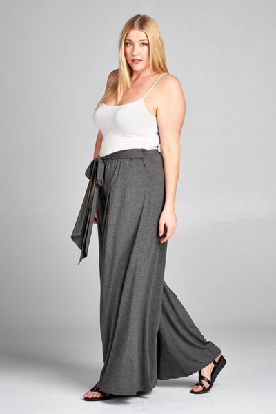 Curvy High Waisted Palazzo Pants - Superior Boutique