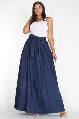 High Waisted Denim Skirt - Superior Boutique