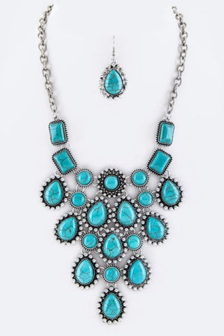Precious Stones (Mixed) Necklace Set - Superior Boutique