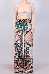 Printed Palazzo Pants - Superior Boutique
