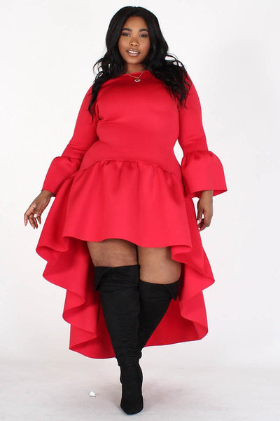 Party Reddy Hi-Lo Dress - Superior Boutique