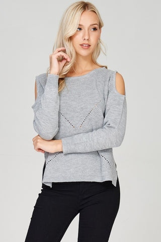 Cold Shoulder Sweater - Superior Boutique