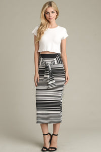 Ribbed Fitted Skirt - Superior Boutique