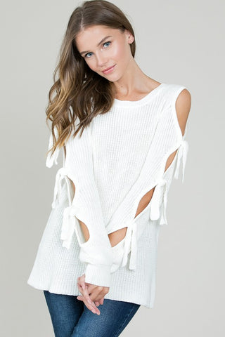 Must-Have Cold Shoulder Sweater - Superior Boutique