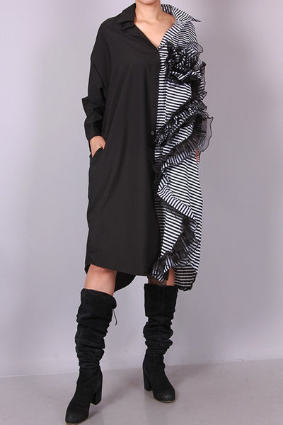 Striped Shirt Dress - Superior Boutique