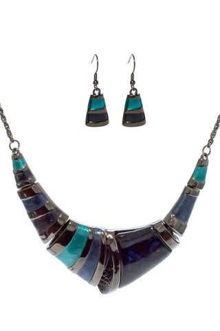 Statement Necklace Set - BLUE