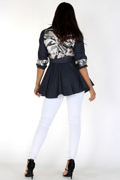 Sequin Embellished Waist Length Jacket - Superior Boutique