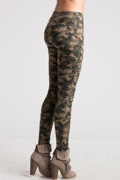 Camo Biker Chic Moto Leggings - Superior Boutique