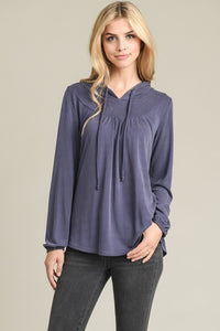 Long Sleeve Hoodie Top - Superior Boutique