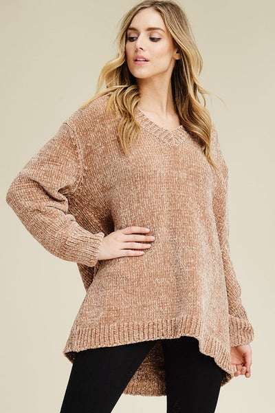 Comfy V-Neck Sweater - Superior Boutique