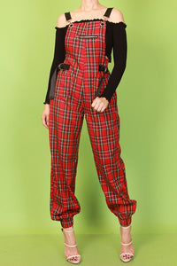 Plaid Print Overalls - Superior Boutique