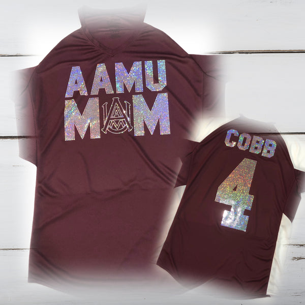 A&M Mom Bling Ladies Cutter Jersey - Superior Boutique