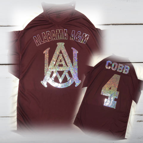 A&M Bling Ladies Cutter Jersey - Superior Boutique