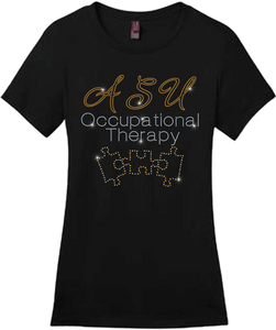 ASU Occupational Therapy Bling Short Sleeve Style Shirts