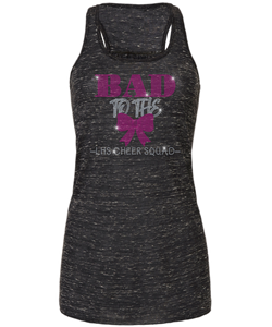 Bad To The Bow Bling Flowy Racerback Tank