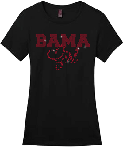 Bama Girl Bling Short Sleeve Style Shirts