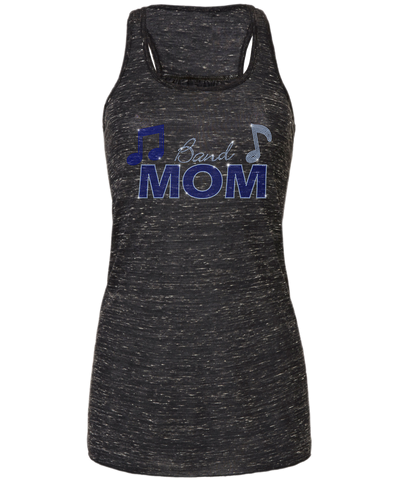 Band Mom Bling Flowy Racerback Tank
