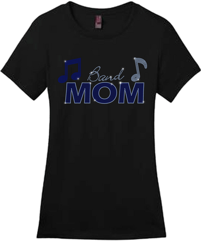 Band Mom Bling Short Sleeve Style Shirts