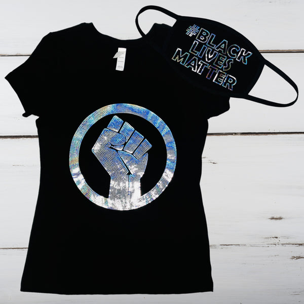 Black Lives Matter Bling Shirt
