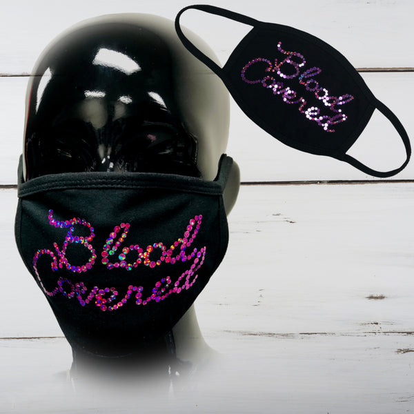 Blood Covered Bling Face Mask - Superior Boutique