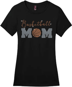 Basketball Mom Bling Short Sleeve Style Shirts