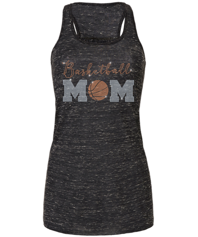 Basketball Mom Bling Flowy Racerback Tank