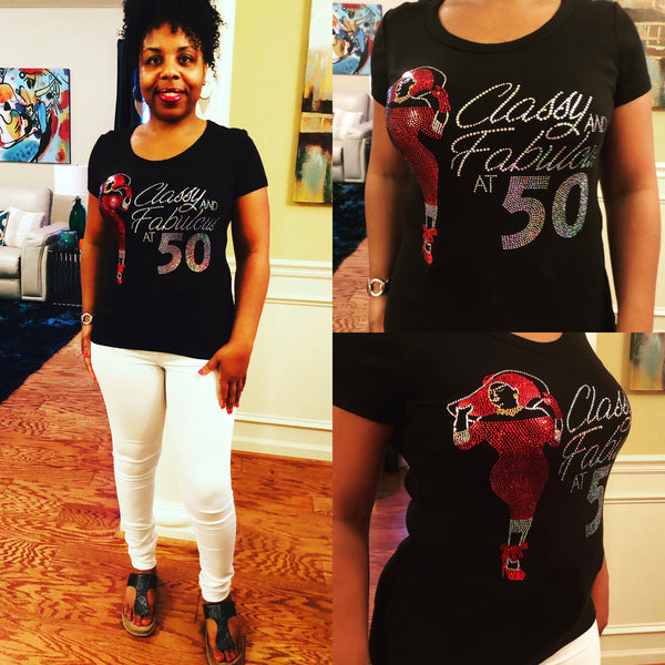 Classy & Fabulous Birthday Bling Shirt - Superior Boutique