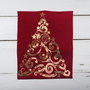 Christmas Tree Bling Shirt (Gold) - Superior Boutique