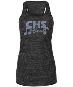 School Band Bling Flowy Racerback Tank